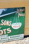 Scales and Sons Boots Enamel Advertising Sign