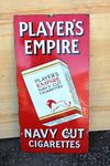 Players Empire Pictorial Enamel Sign.#