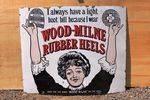 Wood Milne Rubber Heels Antique Pictorial Enamel Sign.#