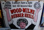 Wood Milne Rubber Heels Antique Sign---SM22