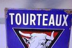 Tourteaux Pictorial Farming Enamel Sign Arriving Nov