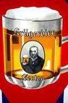 Kruger Beer Pictorial Enamel Sign Arriving Nov