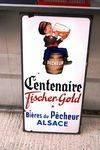 Pecheur Fisher-Gold Beer Pictorial Enamel Sign.#