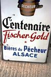 Pecheur FisherGold Beer Pictorial Enamel SignArriving Nov