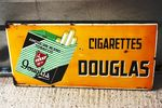 Douglas Cigarettes Pictorial Enamel Sign.#