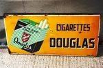 Douglas Cigarettes Pictorial Enamel Sign.#