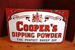 Antique Coopers Sheep Dip Enamel Sign Arriving Nov