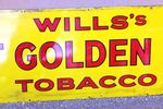 Wills Cut Golden Bar Strip Enamel Sign