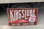 Kings Lube Extra Motor Oils Enamel Sign,#