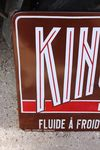 Kings Lube Extra Motor Oils Enamel Sign