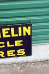 Michelin Cycle Tyres Post Mount Enamel Sign