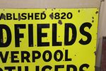 Antique Hadfields Fertilisers Farming Enamel Sign