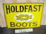 HOLDFAST BOOTS ENAMEL SIGN--SM36