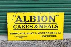 Albion Cakes & Meals Enamel Advertising Sign