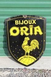 Bijoux Oria Double Sided Enamel Sign