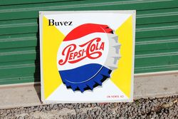 Pepsi Tin Advertising Sign.#