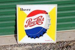 Pepsi Tin Advertising Sign.#