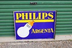 Phillips TSF Light Bulbs Post Mount Enamel Sign.#