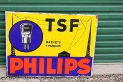 Phillips TSF Light Bulbs Post Mount Enamel Sign