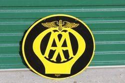 Near Mint AA Double Sided Enamel Sign.#