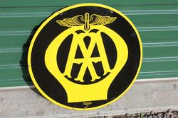 Near Mint AA Double Sided Enamel Sign