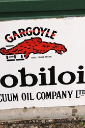 Mobiloil Gargoyle Post Mount Enamel Sign