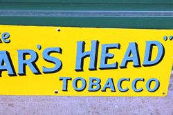 Smoke Boars Head Tobacco Enamel Advertising Sign