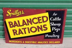 Spillers Balanced Rations Enamel Advertising Sign.#