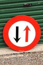 Round Enamel Street Sign.#
