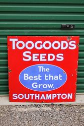 Toogoods Seeds Enamel Advertising Sign.#
