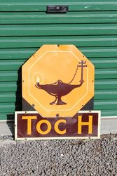 Toch Lamps 2 Piece Tin Advertising Sign.#