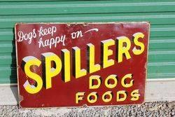 Spillers Dog Food Enamel Advertising Sign.#