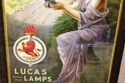 Framed Lucas Lamps Advertising Poster