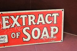 Borax Extract Of Soap For Washing Everything Tin Advertising Sign