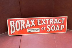 Borax Extract Of Soap Tin Advertising Sign.#