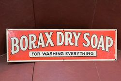 Borax Dry Soap Tin Advertising Sign.#