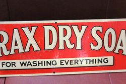 Borax Dry Soap For Washing Everything Tin Advertising Sign