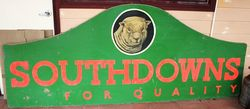 Large Masonite Southdowns Pictorial Advertising Sign.#