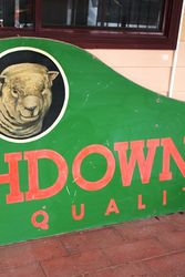 Large Masonite Southdowns Pictorial Advertising Sign