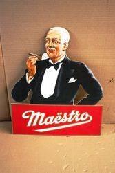 Maestro Cigar Advertising Card. #