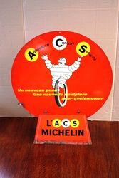 Michelin Double Sided Tin Sign.#
