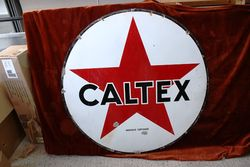 Caltex Round Enamel Advertising Sign#
