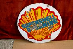 ARRIVING SOON Early Shell Dynamine Enamel Sign