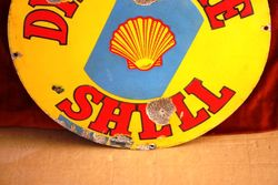 ARRIVING SOON Shell Dynamine Round Enamel Sign