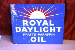 Royal Daylight Post-mount Enamel Sign.#