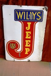 WILLY`S JEEP Enamel Sign.#