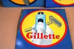 ARRIVING SOON Set of 3 Gillette Shaving Tin Signs