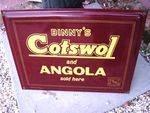 Classic Binny`s Cotswol + Angola Sold Here Enamel Sign