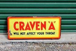 Craven A Enamel Advertising Sign