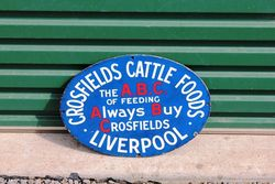Crossfields ABC Cattle Foods Enamel Advertising Sign.#